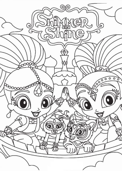 Shimmer i Shine - kolorowanka do wydruku