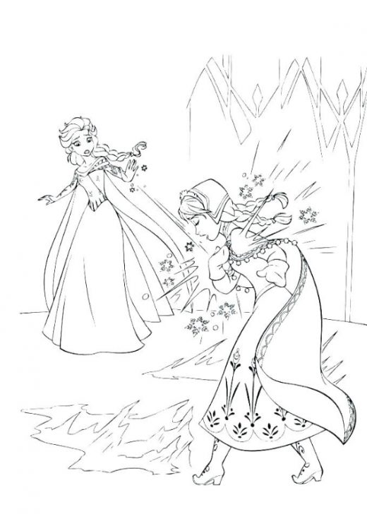 Elza i Anna, Kolorowanki do wydruku,