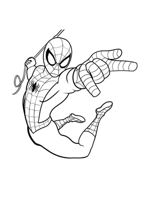 Spiderman 1 Morindia Kolorowanki Do Wydrukowania