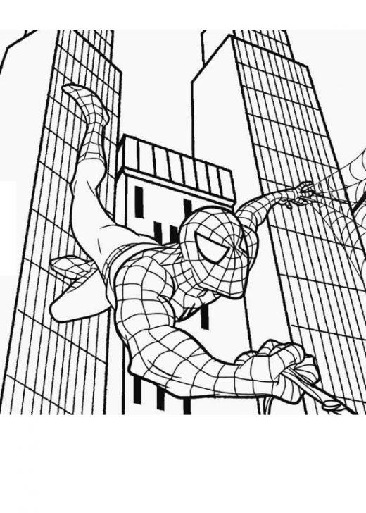 Spiderman, kolorowanka do wydruku