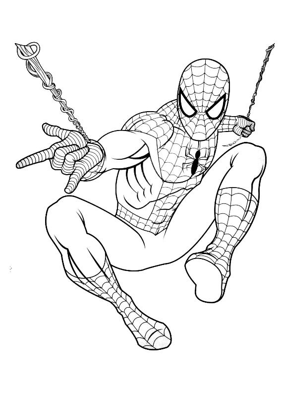 Spiderman 23 Morindia Kolorowanki Do Wydrukowania