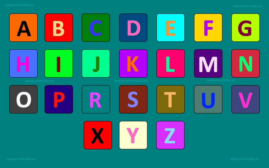 Nauka liter alfabetu