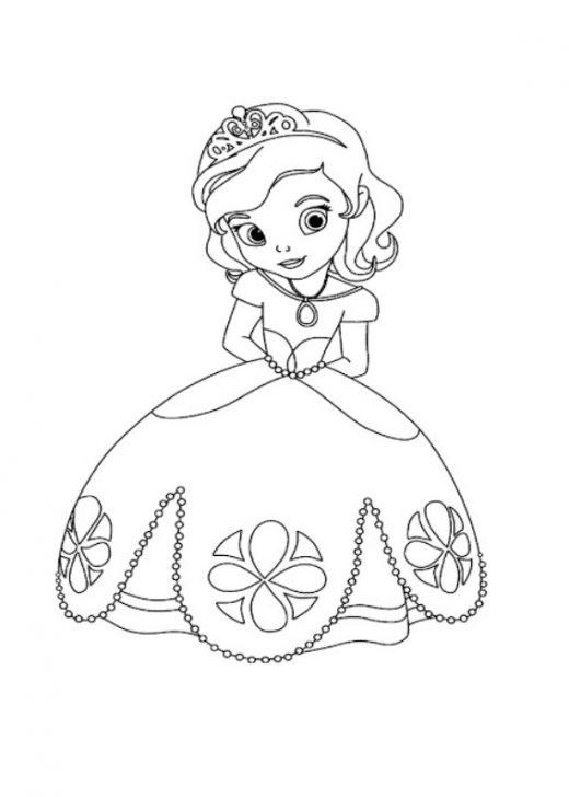Kolorowanka księżniczka Zosia