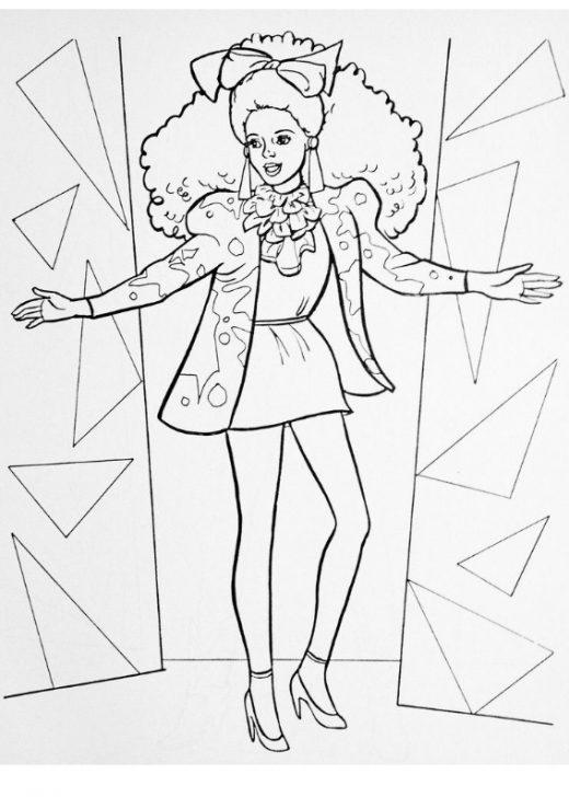 Kolorowanka Barbie Gwiazda