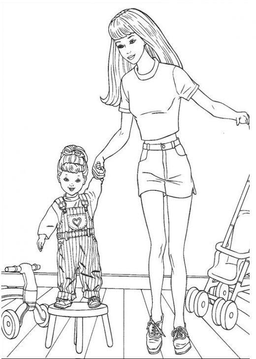 Barbie kolorowanka z dzieckiem
