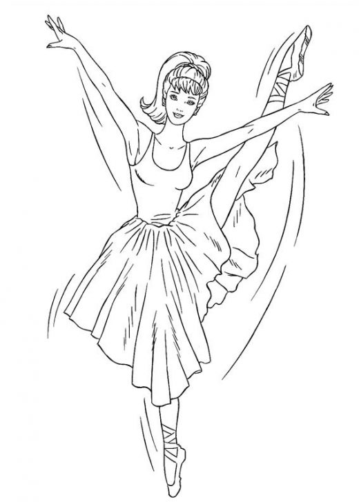 Kolorowanka Barbie Balet