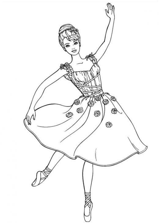 Kolorowanka Barbie Tańczy