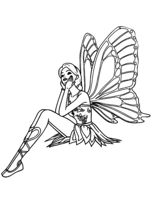 Kolorowanka Barbie Motylek