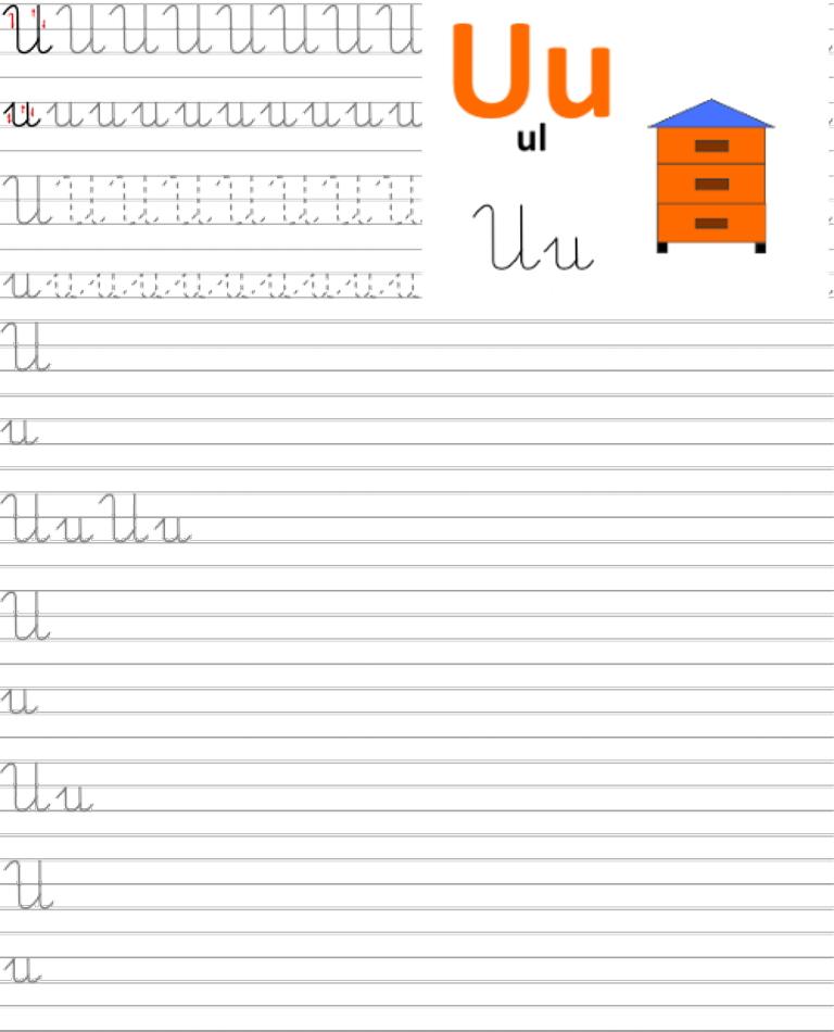 Formularz a4 do nauki pisania liter, nauka pisania literki u
