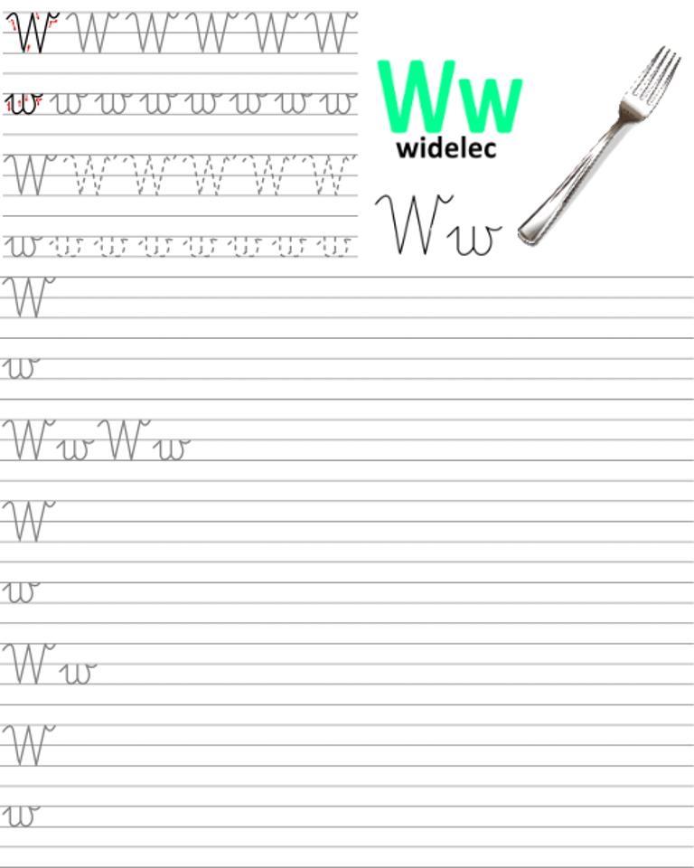Formularz a4 do nauki pisania liter, nauka pisania literki w