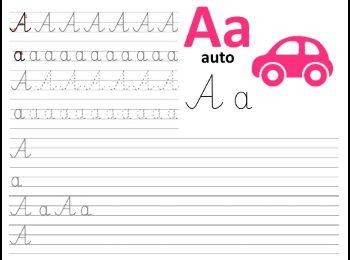 Formularze do nauki pisania literek