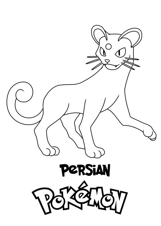Pokemon Persian Kolorowanka Do wydruku