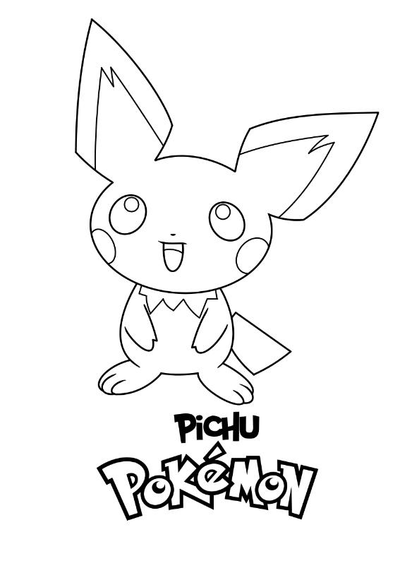 Pokemon Pichu Kolorowanka Do wydruku