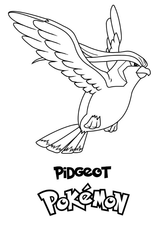 Pokemon Pidgeot Kolorowanka Do wydruku