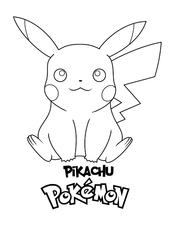 Pokemon Pikachu Kolorowanka Do wydruku