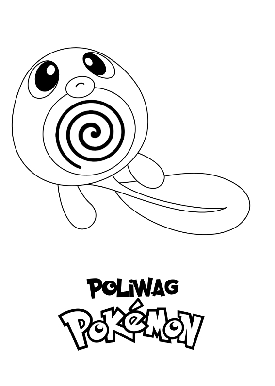 Pokemon Poliwag Kolorowanka Do wydruku