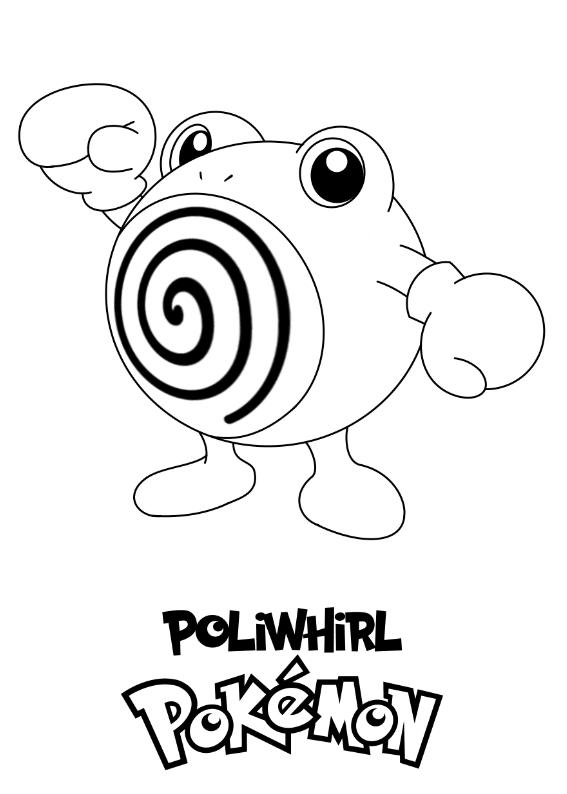 Pokemon Poliwhirl Kolorowanka Do wydruku