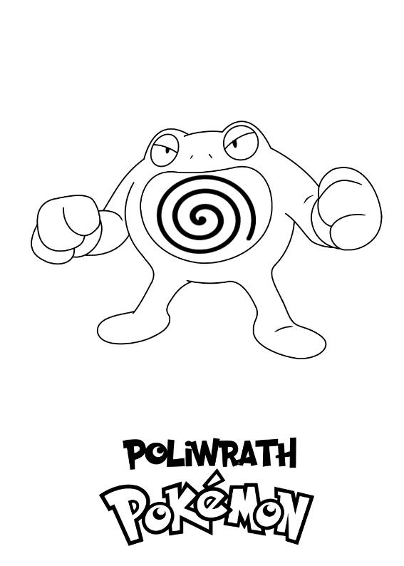 Pokemon Poliwrath Kolorowanka Do wydruku